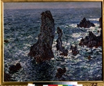 Monet, Claude - Felsen in Belle-Ile (Pyramides de Port-Coton, Mer sauvage)