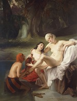 Hayez, Francesco - Bathseba im Bade