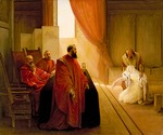 Hayez, Francesco - Valenza Gradenigo vor der Inquisition