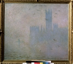Monet, Claude - Seagulls. The Thames in London. The Houses of Parliament