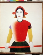 Malevich, Kasimir Severinovich - A Girl With A Red Pole