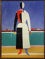 Malevich, Kasimir Severinovich - Woman with a Rake