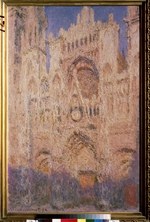 Monet, Claude - The Rouen Cathedral at sunset