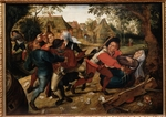 Brueghel, Pieter, the Younger - Peasants Fighting Over Cards