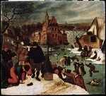 Brueghel, Pieter, the Younger - Winter Scene. Ice Skaters