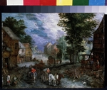 Brueghel, Jan, the Elder - Landscape with a smithy