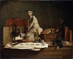 Chardin, Jean-Baptiste Siméon - Still Life with Attributes of the Arts