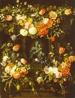 Ykens, Frans - Madonna surrounded by flowers