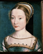 Corneille de Lyon - Female portrait (Portrait of Queen Claude?)