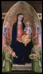 Cristiani, Giovanni di Bartolomeo - The Virgin and Child enthroned with attendant Angels