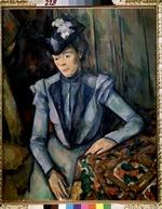 Cézanne, Paul - Lady in blue (Madame Cézanne)
