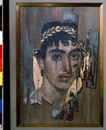 Fayum mummy portraits - Portrait of a Youth in a gold Wreath