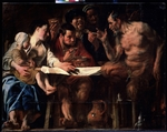 Jordaens, Jacob - Satyr and peasant family