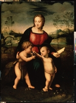 Italian, second half 16th cen. - Virgin and child with John the Baptist as a Boy (after Raphael)