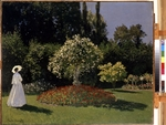 Monet, Claude - A lady in the garden. Sainte-Adresse
