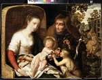 Dutch master - The Holy Family with John the Baptist as a Boy and Saint Elizabeth