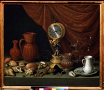 Pereda y Salgado, Antonio, de - Still life with a clock