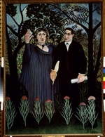 Rousseau, Henri Julien Félix - The Poet and his Muse. Portrait of Guillaume Apollinaire and Marie Laurencin