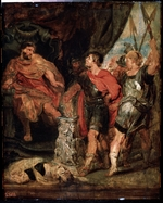 Rubens, Peter Paul, (School) - Mucius Scaevola before Porsenna