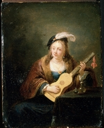 Teniers, David, the Younger - Woman with a Guitar