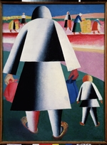 Malevich, Kasimir Severinovich - To the harvest (Martha and Vanka)