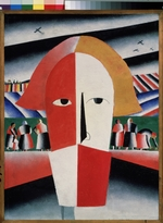 Malevich, Kasimir Severinovich - Head of a peasant