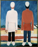 Malevich, Kasimir Severinovich - Two Male Figures