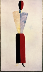Malevich, Kasimir Severinovich - A girl (Figure on White)