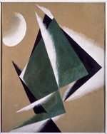 Popova, Lyubov Sergeyevna - Construction with white half-moon