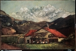 Courbet, Gustave - A hut in the mountains
