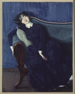 Somov, Konstantin Andreyevich - A sleeping Woman in Blue