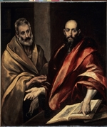 El Greco, Dominico - The Apostles Saint Peter and Saint Paul