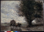 Corot, Jean-Baptiste Camille - The Haycart
