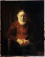 Rembrandt van Rhijn - Portrait of an old man in Red
