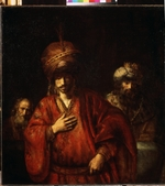 Rembrandt van Rhijn - Haman Recognizes His Fate (David and Uriah)