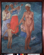 Petrov-Vodkin, Kuzma Sergeyevich - Morning. Bathers