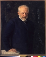 Kuznetsov, Nikolai Dmitrievich - Portrait of the composer Pyotr Ilyich Tchaikovsky (1840-1893)