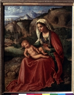 Giorgione - The Virgin and Child in a Landscape