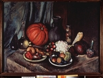 Mashkov, Ilya Ivanovich - Still life with pumpkin and a jug