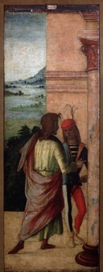 Costa, Lorenzo - Two Young Men at a Column