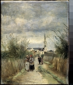 Corot, Jean-Baptiste Camille - Bell tower in Argenteuil (Road to the Church)