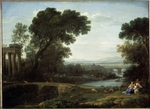 Lorrain, Claude - Landscape with the Rest on the Flight into Egypt (Midday)