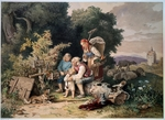 Richter, Adrian Ludwig - The Shepherd's Family