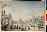 Neer, Aert, van der - Winter Landscape with Skaters
