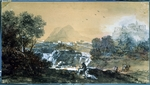 Zuccarelli, Francesco - Landscape with a waterfall