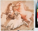 Italian master - Fighting horses