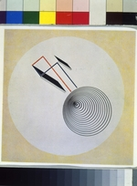Lissitzky, El - Proun 93. Floating spiral