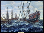 Lanceray (Lansere), Evgeny Evgenyevich - Ships at the Time of Peter I