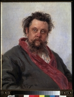 Repin, Ilya Yefimovich - Portrait of the composer Modest Mussorgsky (1839-1881)