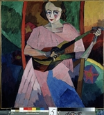 Lentulov, Aristarkh Vasilyevich - Lady with a guitar